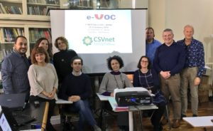 The e-VOC Team in Rome at a Partners Meeting